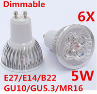 Spotlight LED 5W Best selling 6X LED Spotlight 5W Dimmable 220v 110v 12v Lamps E27 E14 B22 GU10 GU5 3 MR16 High Power Bulb