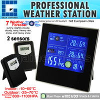 Indoor/Outdoor Bimetal Thermometer S08S620PV_2S S08S620PV_2S Indoor Outdoor Digital Wireless Weather Station Temperature RH Air Pressure RCC Barometer with Bar Chart 2 sensors 220V only
