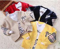 Wholesale 2013 New O neck long sleeve baby cardigans Mickey children knitting sweater coat colors TZSJ1