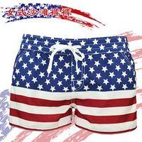 Wholesale New Epacket Plus Size American Flag Board Shorts Usa Hawaiian Beach Shorts Women Men Boardshorts Xl Xxl Xxxl