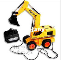Airplanes Electric 2 Channel remote control wheel construction excavator kids electric rc navvy by wire toys children Hands-on novel gift + free shipping