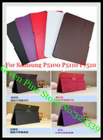 Wholesale for Samsung Galaxy Tab folding leather case cover with stand GT P5100 P5110 P7510 Tablet case