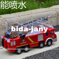 Airplanes Electric 2 Channel Free Shipping Electric fire toy water spray toy child model fire truck water spray