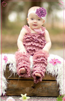 Unisex Summer Lace High Quality ! Girls Wholesale Retail Boutique Clothes Baby Lace Petti Ruffle Romper(mix color mix size)
