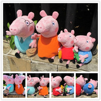 "Unisex 0-12 Months Multicolor Peppa pig 4pcs 12""&7.5"" new arrival mummy daddy Pig 12inch plush toy toddler George Peppa pig 7.5inch 4 pcs a set toys"