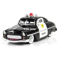 Wholesale T0705 original Pixar Cars Funny Sheriff Police car Alloy diecast toy car model brand new hot sale