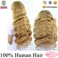 Blonde Body Wave Brazilian hair brazilian hair front lace wig for black women