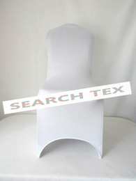 Wholesale Spandex chair covers White Lycra Spandex Chair Cover For Wedding