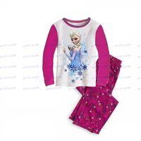 Wholesale New Arrival Children s Outfits Baby Elsa Princess Pyjamas Girls Frozen Pajamas set Anna s Pijama Kids Clothing set Printed Sleepwears