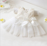 Wholesale 2014 summer fashion new baby girl ball gown dress lace cotton material colors age