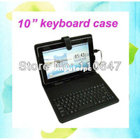 "7'' For Apple For Ipad 2/3 10"" USB Tablet Keyboard Leather Case for PIPO M9 Pro Chuwi V10 Ainol Captain Cube U30GT2 Android Russian Turkish etc"