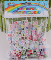 Charms bag charm kits - mix colors letter Silicone beads rainbow loom kits DIY Charm Rainbow loom rubber band accessories drop shipping sale in a bag