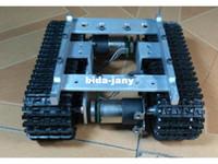 al por mayor coche robot de evitación-Tanque Caterpillar Tractor Chasis Crawler Inteligente Robot Car Evitar los obstáculos Barrowload Wall-e Infrarrojos Ultrasonic Patrol