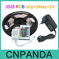 Wholesale 10set Lower Price RGB Led Strip Led M Non Waterproof V keys Controller A Power EU AU US UK Plug Transformer