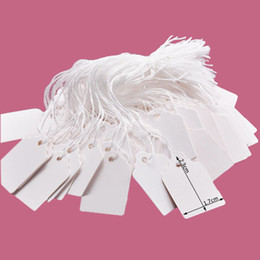 Blank Jewelry Price Tickets With Rope Price Tags Card