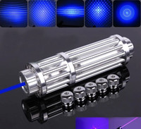 Wholesale 450nm Focusable burning mW Watt Blue laser pointer flashlight EXTREAM STRONG and powerful burn paper