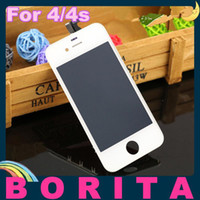 Wholesale 5pcs Grade AAA High Quality For iPhone S GSM CDMA Front LCD Display Touch Screen Digitizer Full Assembly No Dead Pixel Spot