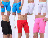 Leggings Skinny,Slim Washed breeches gym cycling mens yoga trousers sportwears Mens Half Swimwear Middle Shorts Swim breeches satin cool Board mma fitness pants Shapers