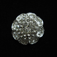 Wholesale 1 Inch Sparkly Silver Full Rhinestone Crystal Diamante Sunflower Brooch Party Prom Gifts