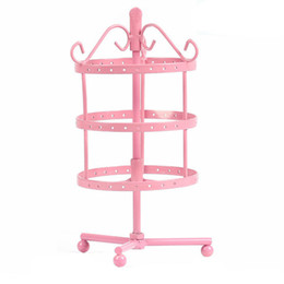 Multicolor High quality Iron Rotatable Removable Three Layer Princess Earring Holder Earrings Display Stand Jewelry Holder