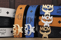 Wholesale Luxury fashion men belts High quality brand designer mcm genuine leather belt for men women PD000169