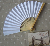 paper fans - Paper Fans Wedding Gift Fans DIY Painting Fans Handmade inches Multi Colors available Bamboo with Two sides Paper Fancy Bridal Accessories