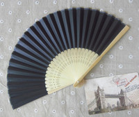 Wholesale Wedding Fans Women Hand Fans Advertising and Promotional Fans Handmade Multi Colors Bamboo with One side Paper Fans Bridal Accessories