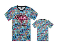 Wholesale Diamond T shirt Hip hop Skateboard Mens Tshirt Short Sleeve Cotton Famous Brand t shirt