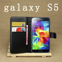 For Apple iPhone Leather White Luxury Wallet Credit Card Holder Flip Stand Leather Case Cover for iPhone 5 5G 5S 5C Samsung S5 i9600 S4 i9500 Note 3 Leather Cases 50pcs