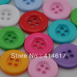 Wholesale A x Round Holes Plastic Button Sewing Tools Crafts Appliques Mix B20cheapest