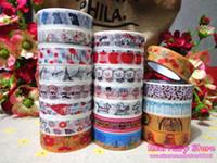 Wholesale NEW Lovely Self adhesive Washi Tape Mix Design Paper Tape mm x m DIY Masking Tape