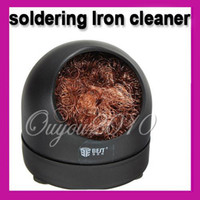 Wholesale Heavy Duty Soldering Solder Iron Tip Cleaner With Steel Wire Sponge Detin Tools Stand Set