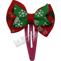 Barrettes & Clips Other A7 ( over 300 7 days after delivery ) A2 Swiss textile with Korean children hair bow hair accessories wholesale hair ornaments for Christmas wholesale drop folder A16