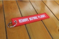 zipper pull - keyring Color Remove Before Flight Keychain Luggage Tag Zipper Pull Woven Embroidered