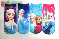 Unisex cartoon children socks - Hot Sale Child Girls Baby Frozen Socks Cartoon frozen socks lovely children socks Girls Frozen Stocking Frozen Princess Socks long socks