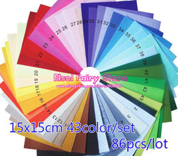 Wholesale of Multiple colors Rainbow x15cm Felt Pack mm Non woven Fabric Material for DIY