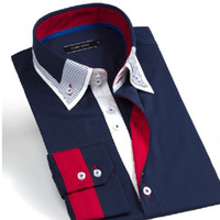 Italian Designer Men's Clothes Men Cotton Shirts FREE