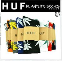 Wholesale fedex pairsmarijuana leaf socks fashion socks plantlife crew weed socks skateboard sports stockings