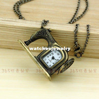 Antique antique sewing machines - A185 New Antique Cute Bronze Sewing Machine Pocket Watch For Xmas Gift