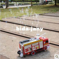 Airplanes Electric 2 Channel Baby toy car electric bubble car toy fire truck automatic bubble machine band music
