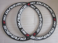 Road Bicycles 700c 50mm Toray T700 carbon 700c Dura-Ace WH7900 C50 Clincher carbon 50mm cyclocross bicycle 3k matte rims 24 24H Internal Nipples no braking surface for disc brake decals
