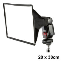 Wholesale 20cm x cm Photo Flash Speedlite Universal Foldable Diffuser Softbox Soft box For Canon Nikon Sigma Off Camera
