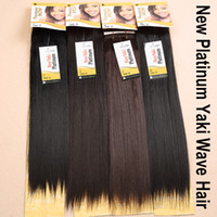 Yaki Wave human hair premium now - 6Pcs SENSATIONNEL Premium Now Hair Platinum YAKI WAVE quot quot quot quot Human Hair Blend Synthetic Hair Extension Color1 B High Quality