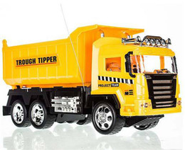 Wholesale big size RC car toys for children Remote control tipper truck best gift for kids_In Stock