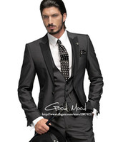Men Pant Suit Formal Wholesale - Price -- New Arrival Groom Tuxedos Men's Wedding Dress Prom Clothing(Jacket+pants+tie+vest)