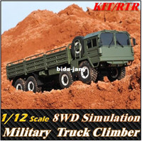big scale rc trucks - Cross SC8 Scale Simulation WD X8 Off Road Military Truck Climber Electronic Rc Car toys