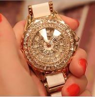 Wholesale Hot NEW Fashion Women Wristwatches Luxury High grade ceramic watch Diamante Ladies Quartz watches Drop shipping Good Gift