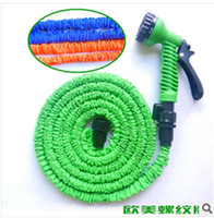 Wholesale Expandable amp Flexible Plastic Hose Water Garden Pipe Connect to Spray Nozzle For Car Wash Pet Bath Original FT FT FT DHL