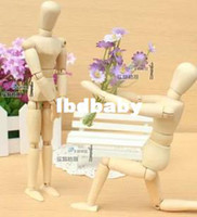 Wholesale Medium cm Wooden Jointed Doll Man Wood Joints Toy Figures cm cm cm Inch Model Movements Painting Sketch Cartoon