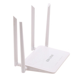 Wholesale US Stock Mbps IEEE b g n Dual Band G Wireless Wi fi Router Two External Antenna Internet Share for Laptop Tablet Smartphone